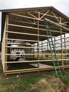 Before & After: New Pole Barn in Apple Grove, West Virginia (1)