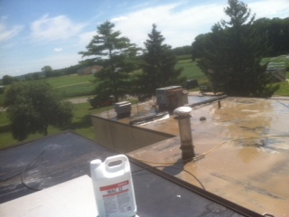 Before Ohio Valley Roofing Systems Installed Waterproof Roof with Conklin Membrane Coating System in Xenia, OH