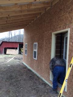 Before, During, and After Pole Barn Construction in Pike County, OH