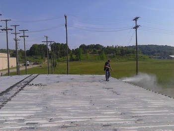 Before Roof Coating in Athens, OH