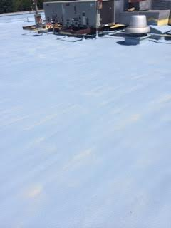 After of Bench Mark Coating a Commercial Roof at Elizabeth Chapel Church in Gallipolis, OH.